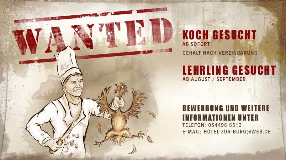 Gesucht: Koch im Hotel zur Burg Posterstein